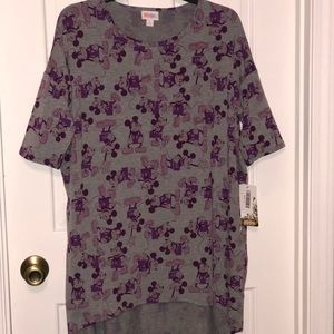Lularoe Disney Mickey Irma Top Size Small NWT